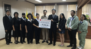 Thai Takasago donated to Red Cross